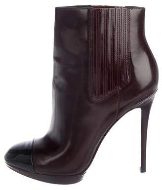 Brian Atwood Leather Ankle Boots