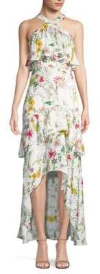 Parker Fillipa Floral High-low Dress
