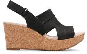 Clarks Annadel Nubuck Wedge Sandals