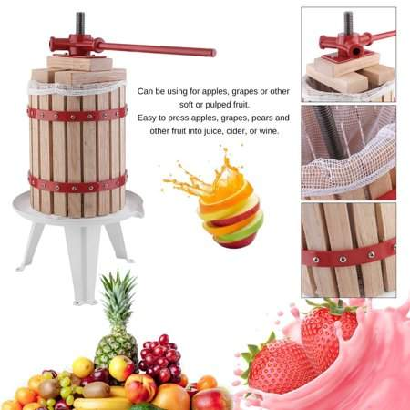 Musiccrazyor CNMODLE 1.6 Gallon Fruit Wine Press Machine Durable Apple Grape Crusher Heavy-Duty Juice Maker Tool With Ratchet Handle