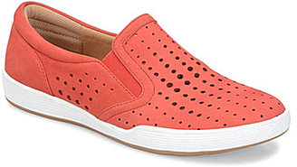 Comfortiva Lyra Perforated Nubuck Slip On Shoes $79.95 thestylecure.com