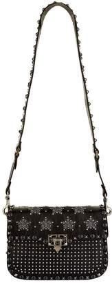Valentino Embellished Leather Rolling Rockstud Shoulder Bag