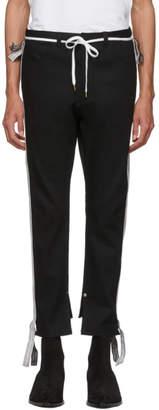 SASQUATCHfabrix. Black Denim Skinny Line Trousers