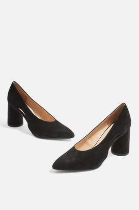Topshop **Wide fit Ginger Leather Court Shoes