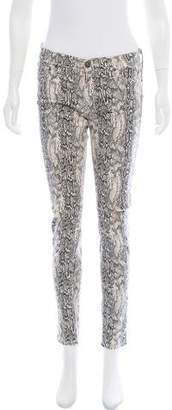Hudson Mid-Rise Snakeskin Printed Jeans