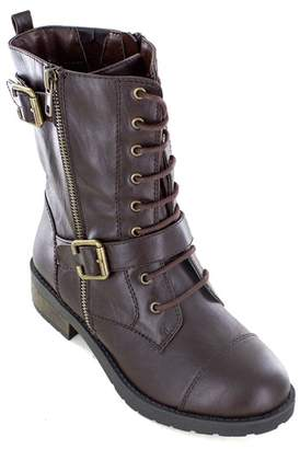 White Mountain Fido Lace-Up Faux Leather Boot