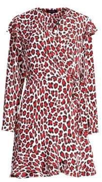 Robert Rodriguez Women's Lena Wrap Dress - Red Leopard - Size 14