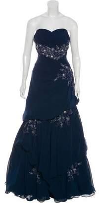 Jovani Embellished Strapless Gown