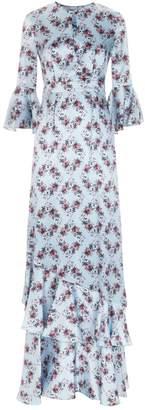 Erdem Venice Floral Silk Gown