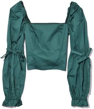 Staud Jackie Top in Emerald
