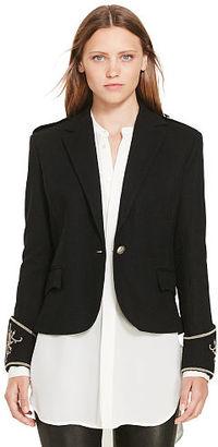 Polo Ralph Lauren Wool Peplum Blazer $398 thestylecure.com