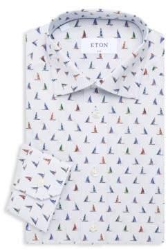 Eton Slim-Fit Sail Boat Dress Shirt
