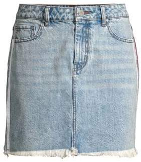 KENDALL + KYLIE Side Stripe Denim Mini Skirt