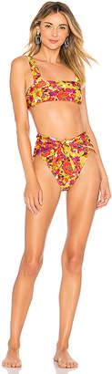 ADRIANA DEGREAS Fruits Print High Leg Bikini Set