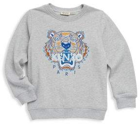 Toddler's, Little Boy's & Boy's Cotton Tiger Print Sweater