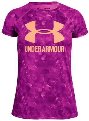 Under Armour Girls Big Logo Novelty Tee