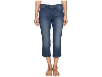 NYDJ Petite Petite Alina Capri Jeans in Nottingham w/ Rhinestone Clasp Women's Jeans