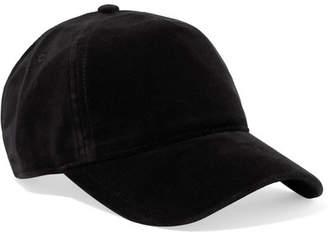 Rag & Bone Marilyn Leather-trimmed Velvet Baseball Cap - Black