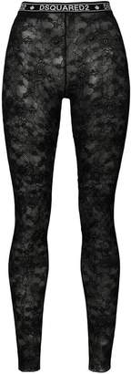 DSQUARED2 lace footless tights