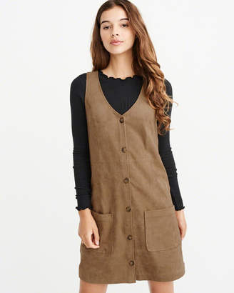 Abercrombie & Fitch Suede Button-Up Dress