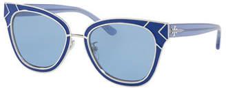 Tory Burch Square Metal Sunglasses