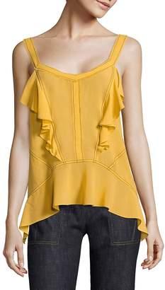 Derek Lam Women's Silk Ruffle Cami
