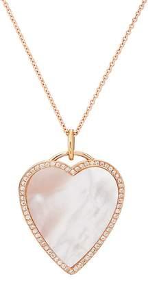 Jennifer Meyer Women's Mother-Of-Pearl Inlay & Diamond Heart Necklace