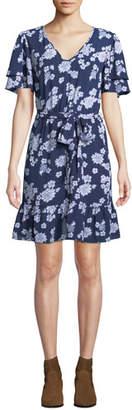 MICHAEL Michael Kors Tossed Lace Fit-&-Flare Dress