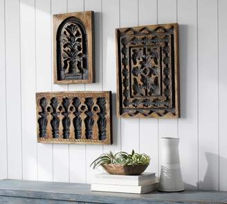 Pottery Barn Jaipur Carved Wood Blocks