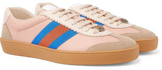 Gucci Leather And Suede Sneakers