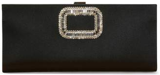 Roger Vivier Soft Flower Rhinestone Buckle Clutch