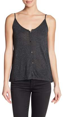Tart Metallic Knit Button Tank
