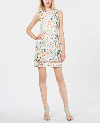 7f682cd305 Calvin Klein White Floral Print Dresses - ShopStyle