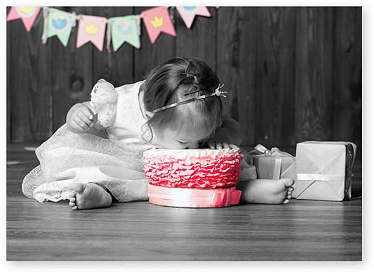 'Eat the Cake' Birthday Card - Set of Six