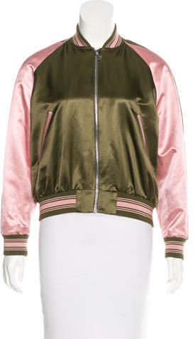 Alexander McQueen 2016 Embroidered Bomber Jacket w/ Tags