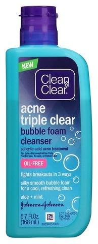Clean & Clear® Triple Clear Bubble Foam Cleanser 5.7 oz Image