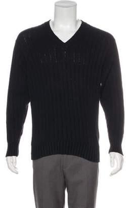 Loro Piana Rib Knit V-Neck Sweater Rib Knit V-Neck Sweater