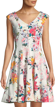 Taylor Floral Fit-&-Flare Dress