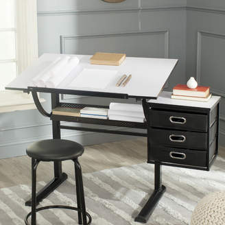 Safavieh Harvard Drafting Table and Chair Set