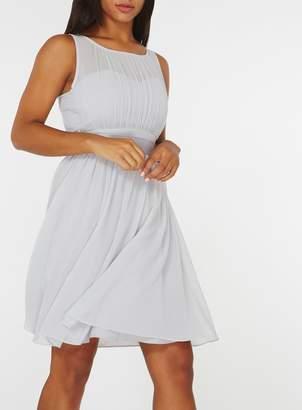 Dorothy Perkins Womens **Showcase Dove Grey 'Beth' Bridesmaids Skater Dress