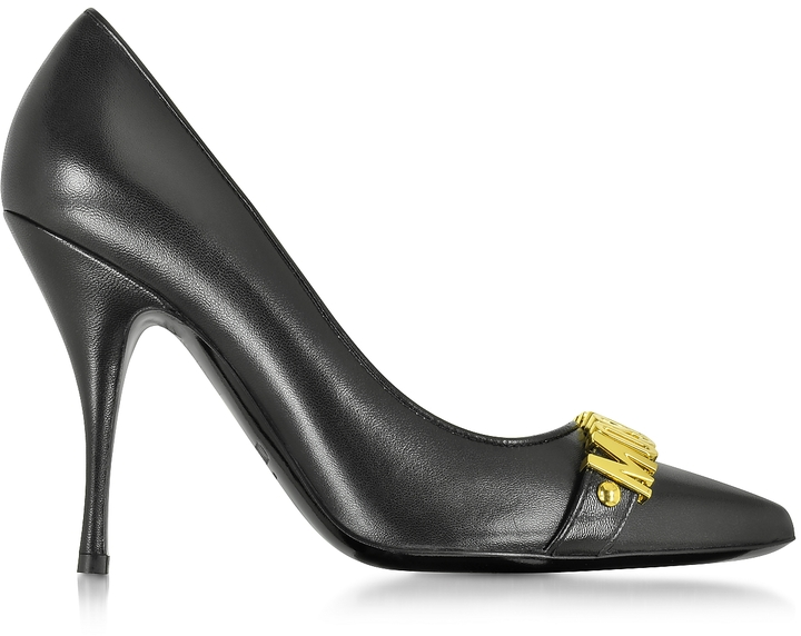 Moschino Moschino Black Leather Pump