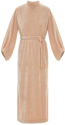 Framed velvet Tube midi dress
