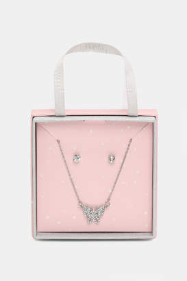 Ardene Butterfly Necklace and Earring Gift Set