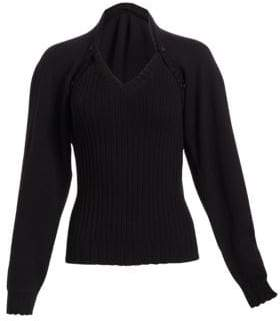 Alberta Ferretti Two-Piece Wool Sweater