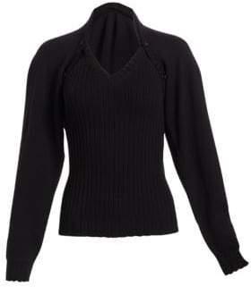 Alberta Ferretti (アルベルタ フェレッティ) - Alberta Ferretti Two-Piece Wool Sweater