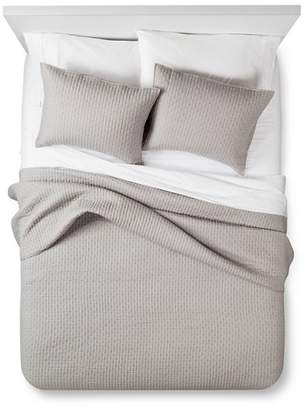 The Industrial Shop Gray Solid Quilt and Sham Set (Queen) 3pc - The Industrial Shop