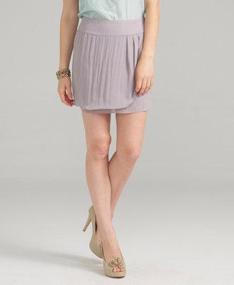 Shimmering Surplice Skirt