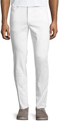 Ermenegildo Zegna Five-Pocket Solid Stretch-Cotton Denim Jeans