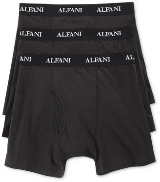 Alfani Men's Knit Tagless Slim Fit Stretch Boxer Briefs 3-Pack, Only at Macy's $19.98 thestylecure.com
