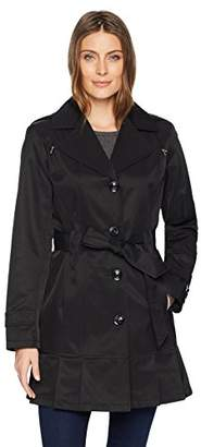Gallery Women's Ladies Belted Trench Coat